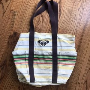 ROXY Tote/ Beach Bag with Water Bottle Pockets